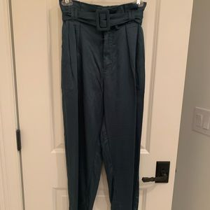 Urban Outfitters Jewel Blue Paper-Bag Pants